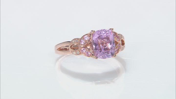 Pink Kunzite 18k Rose Gold Over Silver Ring 2.65ctw