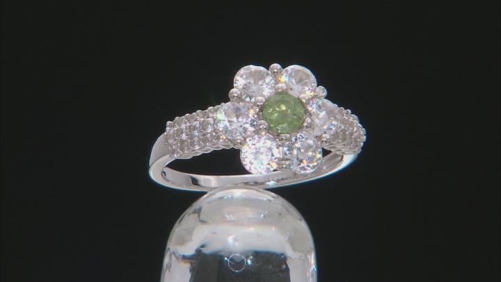 Green Demantoid Garnet Sterling Silver Ring 3.04ctw