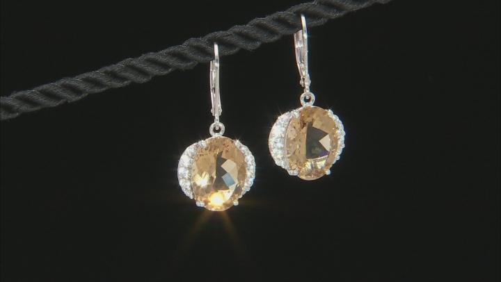 Champagne Quartz Sterling Silver Earrings 10.02ctw