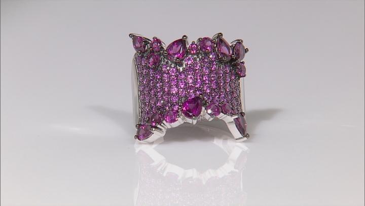 Purple Rhodolite Sterling Silver Ring 4.66ctw