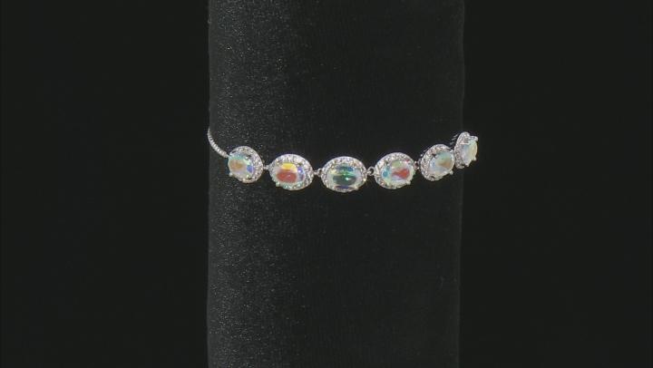 Mercury Mist® Mystic Topaz® Silver Sliding Adjustable Bracelet 5.51ctw