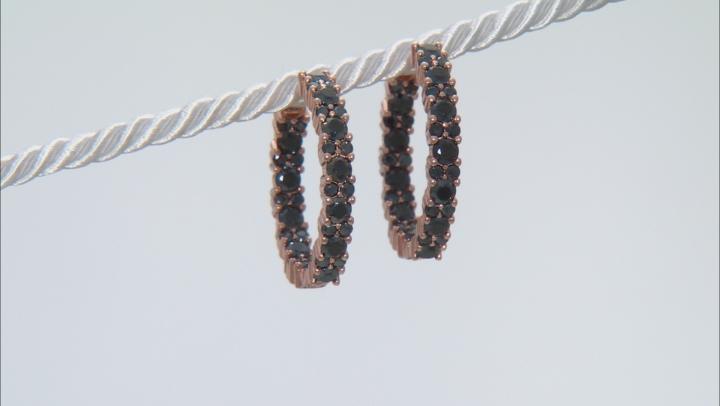 Black spinel 18k rose gold over silver earrings 4.00ctw