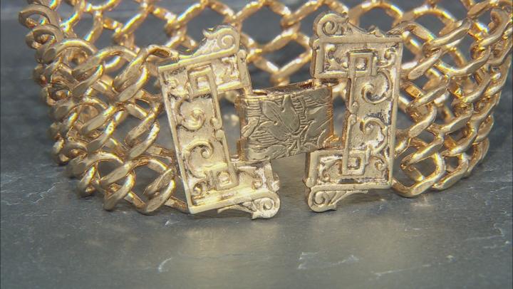 Gold-Tone Interlaced Link Chain Bracelet