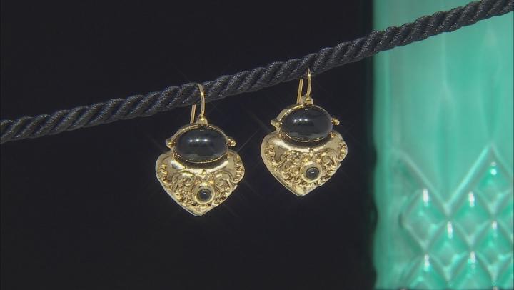 Crystal Gold-Tone Drop Earrings