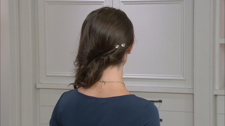 Swarovski Crystal Elements™ Silver-Tone Set Of 2 Hair Pins