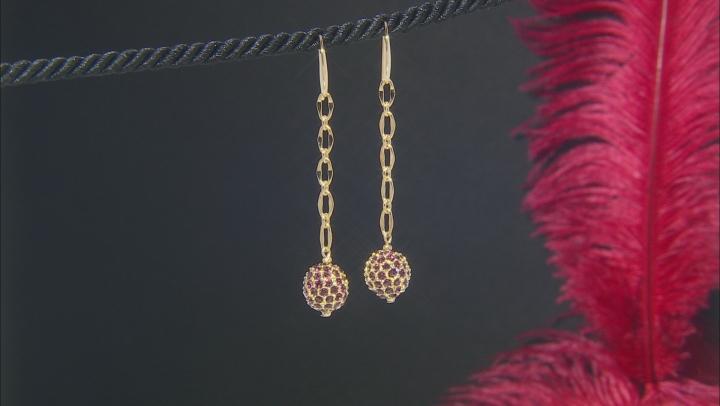 Crystal Gold-Tone Dangle Earrings