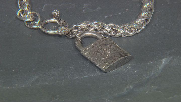 Silver-Tone Burgess Chest Wheat chain Bracelet