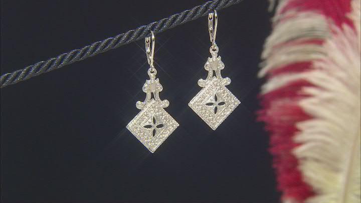Silver-Tone Statement Earrings