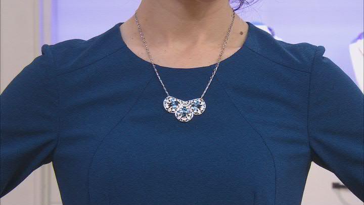 Crystal Silver-Tone Bib Necklace