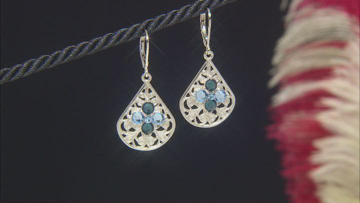 Crystal Silver-Tone Earrings
