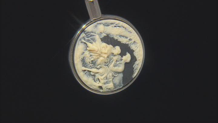 Resin Silver-Tone Cameo Purse Holder