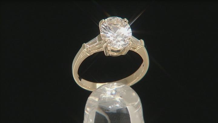 White Danburite And White Zircon 10k Yellow Gold Ring 2.54ctw