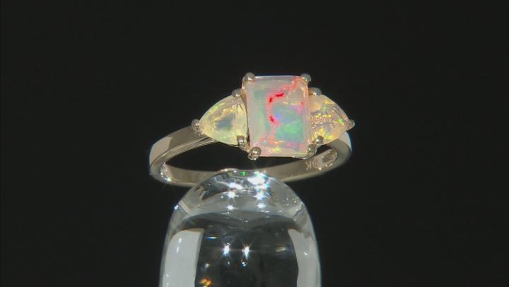 White Ethiopian Opal 10k Yellow Gold Ring 1.20ctw