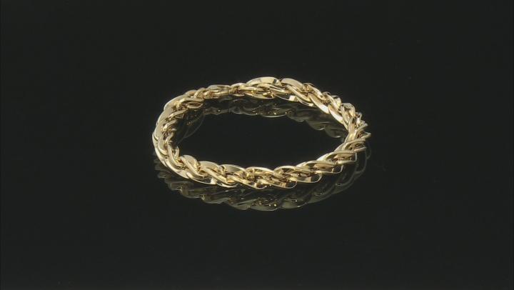 14k Yellow Gold Torchon Chain Bracelet