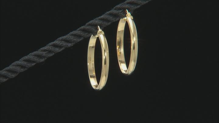 10k Yellow Gold High Polished Hoop Earrings 20mm