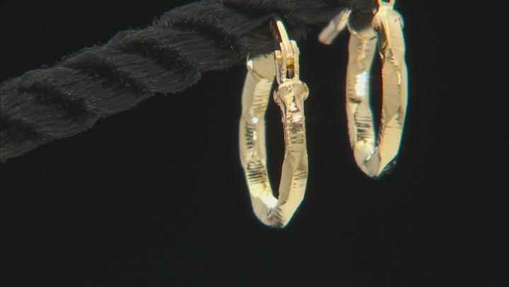 10k Yellow Gold Diamond Cut Hoop Earrings 8mm