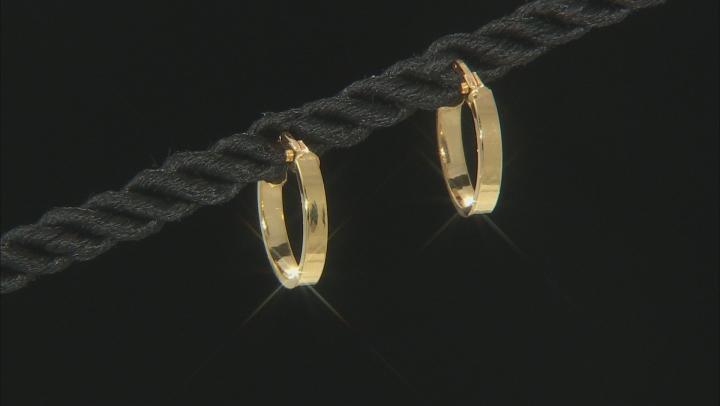 14K Yellow Gold Flat Mirror Earrings