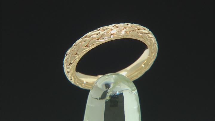 14K Yellow Gold Wheat Band Ring