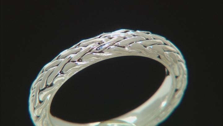 14K White Gold Wheat Band Ring