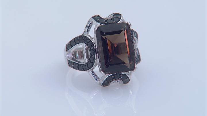 Brown Smoky Quartz Sterling Silver Ring 7.75ctw