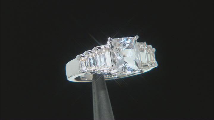White Danburite Sterling Silver Ring. 2.90ctw