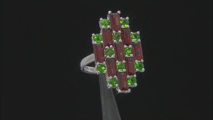 Red Garnet Sterling Silver Ring 3.90ctw