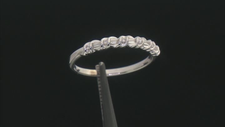 White Diamond 10k White Gold Band Ring 0.15ctw