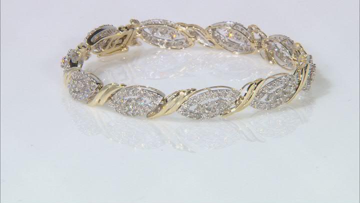 Diamond 10k Yellow Gold Tennis Bracelet 5.00ctw