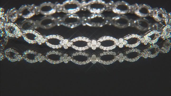 White Diamond 10k White Gold Tennis Bracelet 2.00ctw