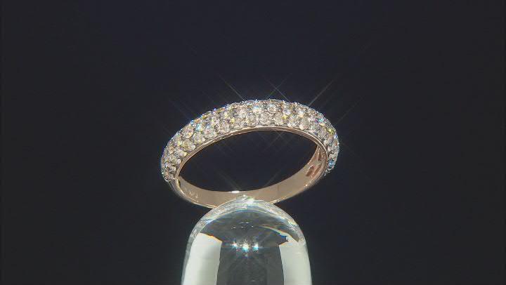 Champagne Diamond 14K Rose Gold Band Ring 1.00ctw