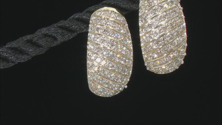 Diamond 10k Yellow Gold J-Hoop Earrings 1.00ctw