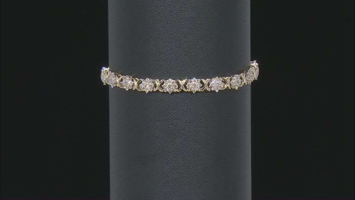 Diamond 10k Yellow Gold Tennis Bracelet 2.00ctw