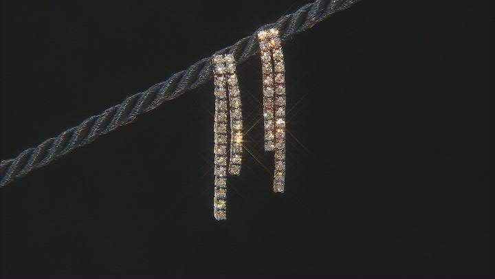 Champagne Diamond 10K Yellow Gold Dangle Earrings 1.25ctw