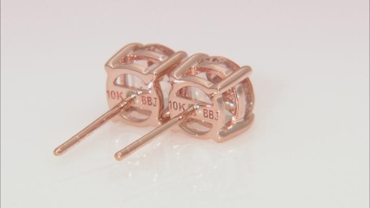 Pink Cor-De-Rosa Morganite™ 10k Rose Gold Stud Earrings 1.45ctw