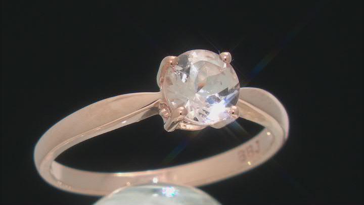 Pink Round Cor-De-Rosa Morganite™ 10k Rose Gold Solitaire Ring 0.95ct