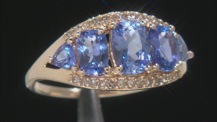 Blue Tanzanite 10k Yellow Gold Ring 2.45ctw