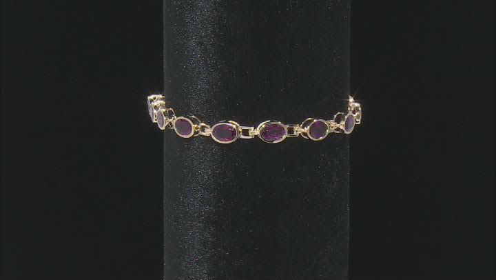 Purple Grape Color Garnet 10K Gold Bracelet 9.73ctw