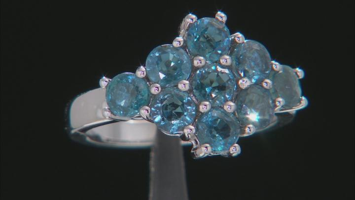 Blue Chromium Kyanite Rhodium Over Silver Ring 2.52ctw