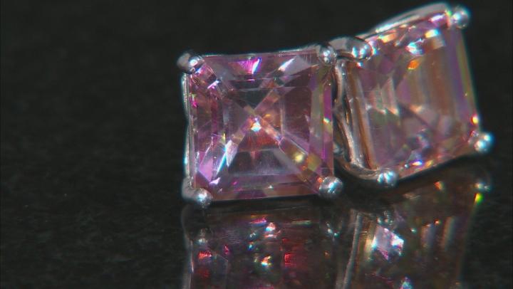 Multicolor Northern Lights™ Quartz Rhodium Over Silver Stud Earrings 4.00ctw