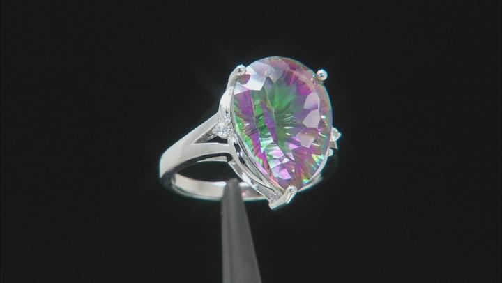 Multi-Color Quartz Rhodium Over Silver Ring 9.40ctw