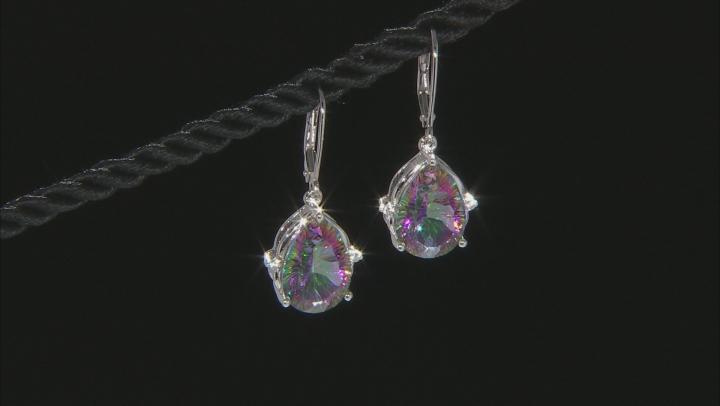 Multi-Color Quartz Rhodium Over Silver Earrings 8.57ctw