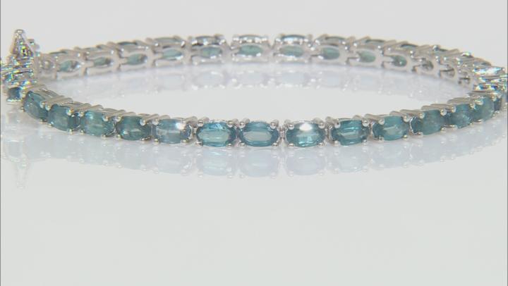 Blue Chromium Kyanite Rhodium Over Silver Bracelet 9.03ctw