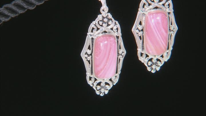 Pink Mookaite Sterling Silver Dangle Earrings