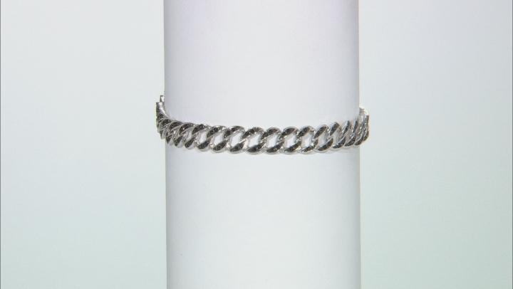 Black Spinel Rhodium Over Sterling Silver Bracelet 1.72ctw