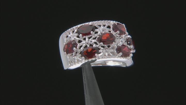 Vermelho Garnet™ rhodium over sterling silver ring 3.02ctw