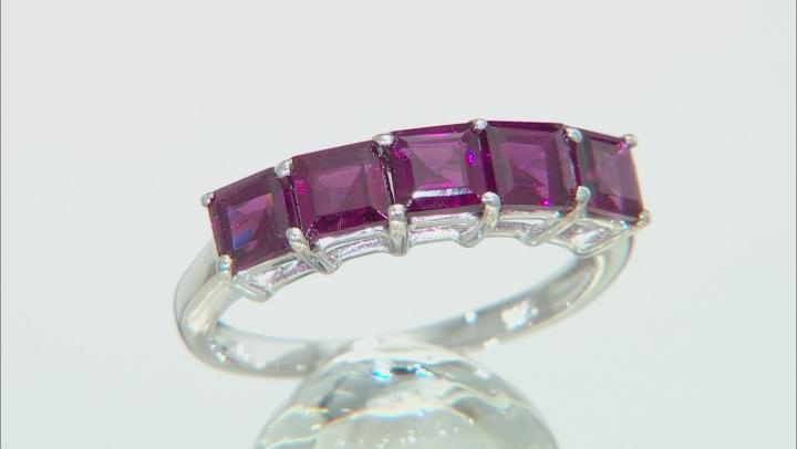 Purple Rhodolite Rhodium Over Sterling Silver Ring 1.72ctw
