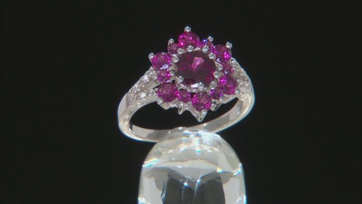 Purple Rhodolite Rhodium Over Sterling Silver Ring 1.74ctw