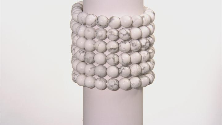 White Howlite Simulant Stretch Bracelet