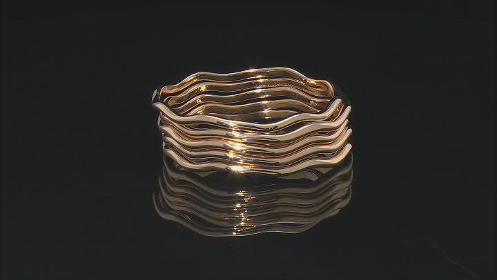 Gold Tone Set of 5 Bangle Bracelets
