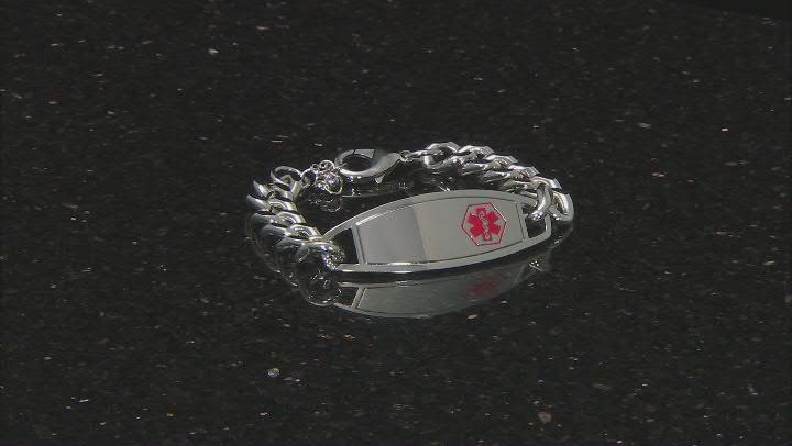 Silver Tone Medical Alert Bracelet